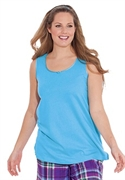Roamans Plus Size Knit Tank For Sleeping By Dreams & Co. (blue Jay, L)  from: USD$14.98