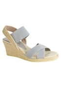 Roamans Plus Size Madeline Espadrille By Comfortview (pewter, 7 1/2 Ww)  from: USD$64.98