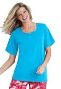 Roamans Plus Size Short Sleeve Tagless Sleep Tee (blue Jay, 4x)  from: USD$13.98