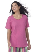 Roamans Plus Size Short Sleeve Tagless Sleep Tee (sweet Berry, L)  from: USD$12.98