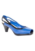 Roamans Plus Size Taylor Peep Toe Sling By Comfortview (dark Sapphire Black, 9 M)  from: USD$64.98
