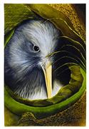 """Kiwi Nest Art Block, Large - Robyn Forbes "" from: NZ55.90"