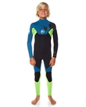 Quiksilver Kids Cypher 3x3 Hydrolock Ls Chest Zip Steamer > Surf Wetsuits