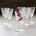 Antique Silk-screen Cordial Glasses, Set Of 6  from: USD$125.00