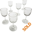 Antique Teardrop Cordial Glasses, Set Of 6  from: USD$125.00