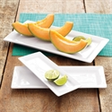 "Rectangular Porcelain Platter, 9 1/2"" X 3 1/2"", 9.5""x3.5""  from: USD$5.94"