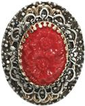 Ollipop Scarlet Glass Composition Ring