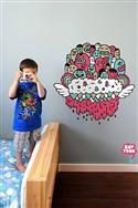 Zeptonn flying Headcloud Wall Sticker In Pink / Turquoise Brown  from: AU80.00