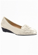 Lani Patent Croc-look Wide Wedges By Comfortview (bone, 10 1/2m)  from: USD$21.98