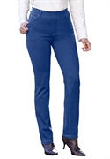 Woman Within Plus Size 5-pocket Petite Straight-leg Ponte Knit Pants (dark Navy, 14 Wp)  from: USD$24.98