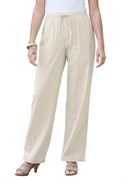 Woman Within Plus Size Cool Petite Linen Blend Pants (natural Khaki, 30 Wp)  from: USD$26.98