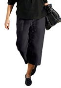 Woman Within Plus Size Drawstring Capris By Ellos (black, 18 W)  from: USD$24.98