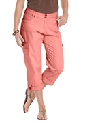 Woman Within Plus Size Petite Cargo Capris (tea Rose, 28 Wp)  from: USD$26.98