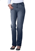 Woman Within Plus Size Petite Five Pocket Straight-leg Jean (grey Denim, 20 Wp)  from: USD$34.99