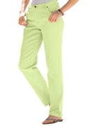 Woman Within Plus Size Petite Five Pocket Straight-leg Jean (pale Green, 20 Wp)  from: USD$34.99