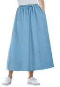 Woman Within Plus Size Petite Flare Skirt (chambray, 30 Wp)  from: USD$22.98