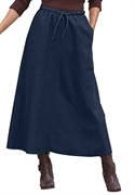 Woman Within Plus Size Petite Flare Skirt (dark Denim, 38 Wp)  from: USD$22.98
