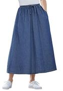 Woman Within Plus Size Petite Flare Skirt (medium Stonewash, 30 Wp)  from: USD$22.98