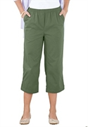 Woman Within Plus Size Petite Hassle Free Capris By Only Necessities (olive Green, 32 Wp)  from: USD$22.98