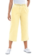 Woman Within Plus Size Petite Mock Fly Capris (banana, 24 Wp)  from: USD$22.98