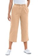 Woman Within Plus Size Petite Mock Fly Capris (khaki, 24 Wp)  from: USD$22.98