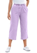 Woman Within Plus Size Petite Mock Fly Capris (pale Lavender, 16 Wp)  from: USD$22.98