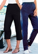 Woman Within Plus Size Petite Relaxed-fit Capris (black Twill, 20 Wp)  from: USD$24.98