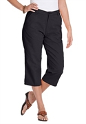 Woman Within Plus Size Petite Soft Khaki Capri (black, 26 Wp)  from: USD$22.98