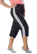 Woman Within Plus Size Side Stripe Capri Pants (black Grey, 30 W)  from: USD$22.98