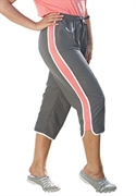 Woman Within Plus Size Side Stripe Capri Pants (slate Coral Pink, 26 W)  from: USD$22.98