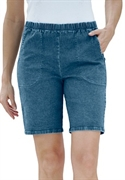 Woman Within Plus Size Stretch Relaxed-fit Shorts (denim Sandblast, 30 W)  from: USD$26.98