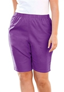 Woman Within Plus Size Stretch Relaxed-fit Shorts (fresh Violet, 28 W)  from: USD$26.98