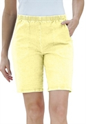 Woman Within Plus Size Stretch Relaxed-fit Shorts (lemon Ice, 30 W)  from: USD$26.98