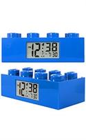 Lego Clocks Blue Brick Digital Grey Dial Alarm Clock #9002151  from: USD$29.99