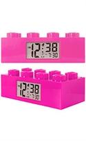 Lego Clocks Pink Brick Digital Grey Dial Alarm Clock #9002175  from: USD$29.99