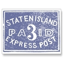1849 Staten Island Express, Blue Postcard  from: USD$1.70