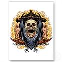Skulls, Vampires And Bats Customizable By Al Rio. Post Cards